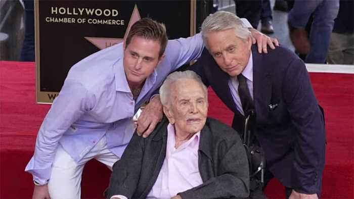 Michael Douglas planning quiet celebration for dad Kirk's 103rd birthday