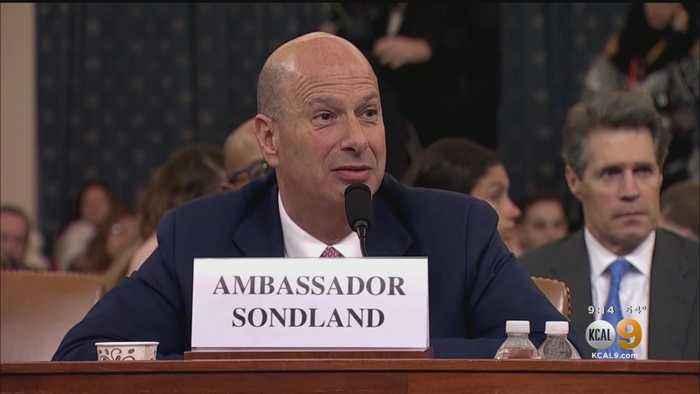 Sondland Implicates Top Officials In 'Quid Pro Quo' Ukraine Scheme