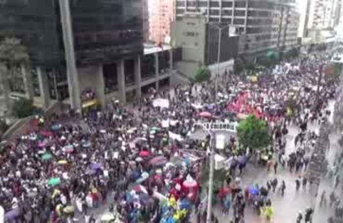 Colombians across the country protest Duque gov't.