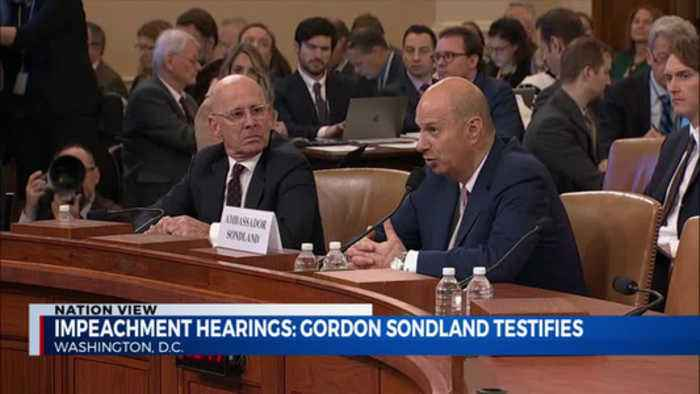 Impeachment hearings: sondland testfies