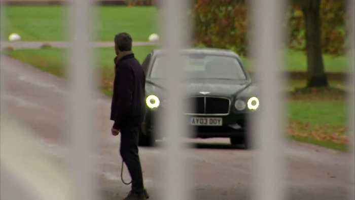 Prince Andrew departs home in Windsor