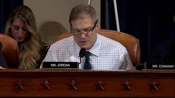Jordan interrupts Holmes during questioning at impeachment hearing