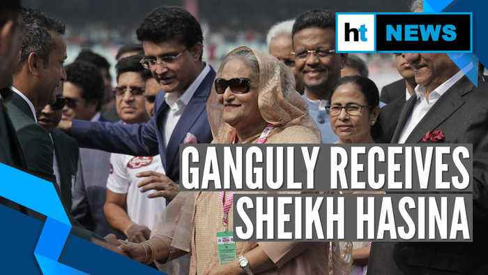 Bangladesh PM Sheikh Hasina in Kolkata to watch pink ball Test at Eden Gardens