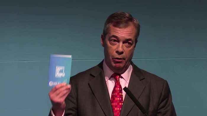 Nigel Farage unveils Brexit Party election pitch