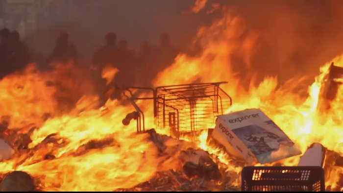 Chile looting, arson take heavy toll