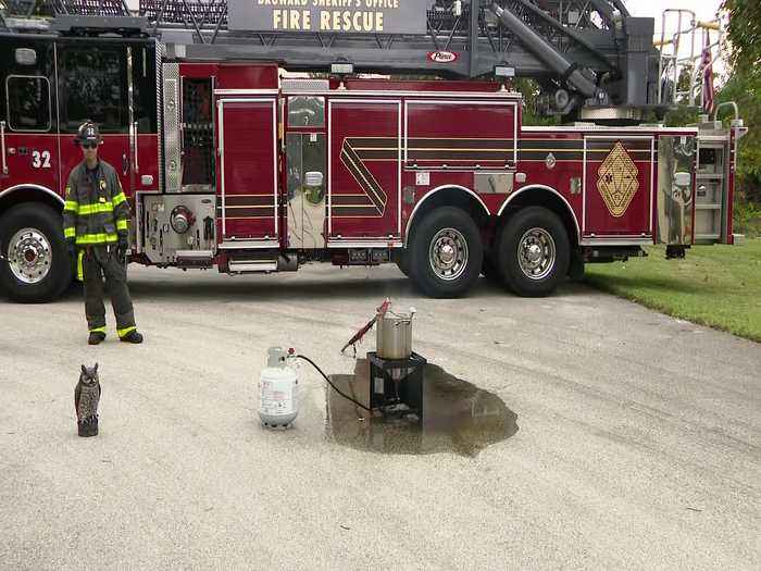 WEB EXTRA: Thanksgiving Turkey Fryer Safety Demonstration