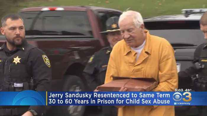 Jerry Sandusky Resentenced To Same Term In Penn State Child Sex Abuse Case