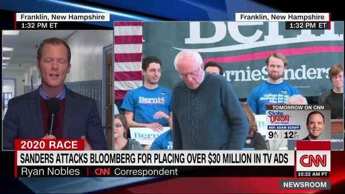 Millionaire Bernie Sanders slams billionaire Mike Bloomberg