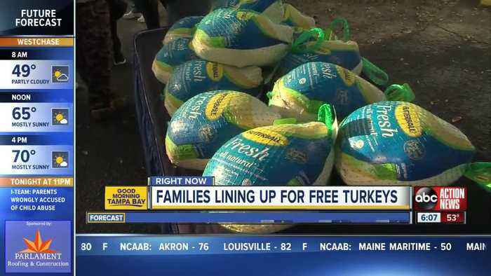 Tampa Bay area law firms giving away turkeys to families in need for Thanksgiving