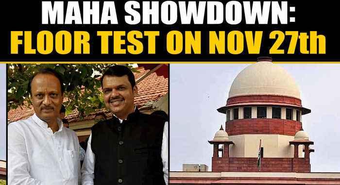 Maharashtra showdown: Supreme Court orders floor test on November 27th | OneIndia News