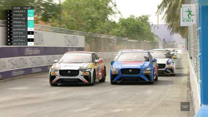 Jaguar I-Pace eTrophy - Sérgio Jimenez wins Round two and secures fastest lap in Diriyan