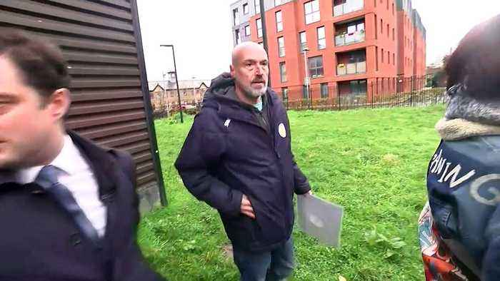 'Corbyn is a racist' - Labour leader heckled by protestors
