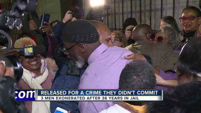 Three men exonerated 36 years after being convicted of teen's murder