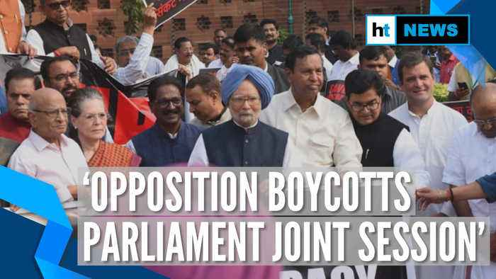 Opposition boycotts joint session on constitution day, holds protest