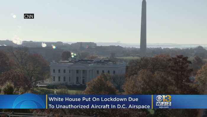 White House Was Put On Lockdown Tuesday After Unauthorized Aircraft Reported In DC Airspace