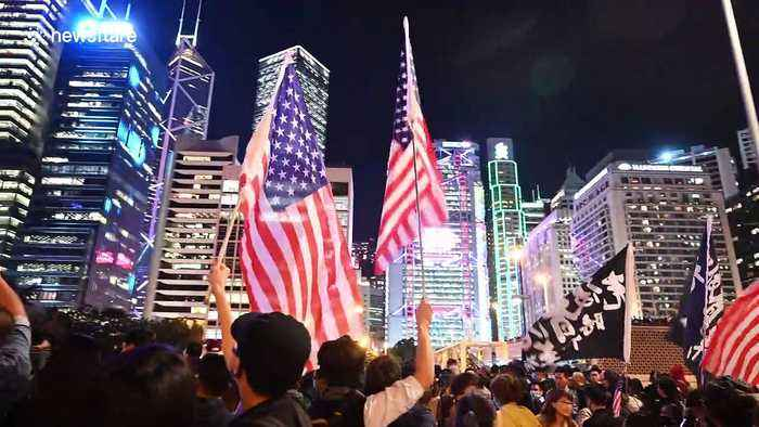 Hongkongers show appreciation to the USA and Trump on Thanksgiving after pro-democracy bill passed