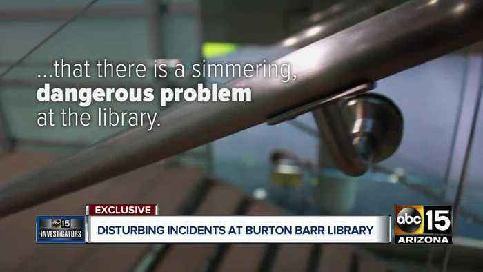 Disturbing incidents at Burton Barr Library