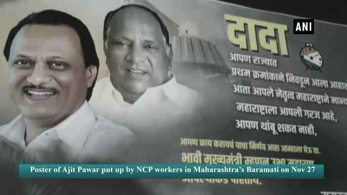 Ajit Pawar's supporters display hoarding claiming him as future Maha CM