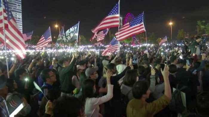 Hong Kong protesters celebrate Thanksgiving
