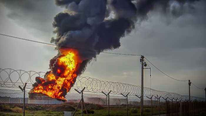 Texas Chemical Fire Burns For A Second Day