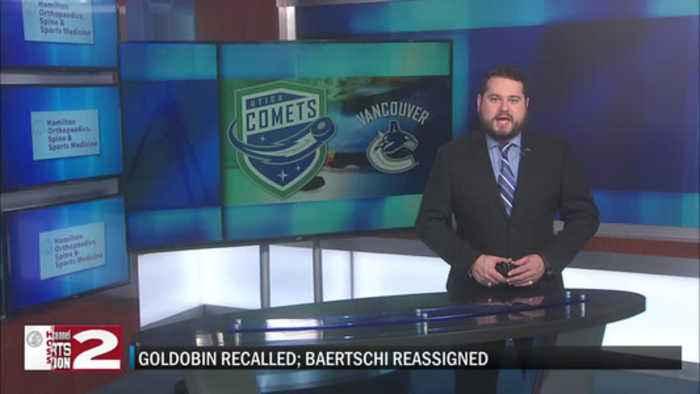 Goldobin recalled, Baertschi reassigned