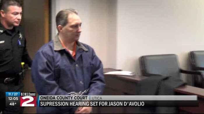 Judge schedules D'Avolio suppression hearing