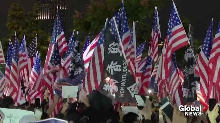 Hong Kong protesters honor US and Trump