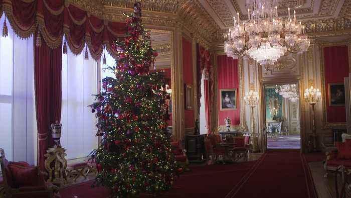 Windsor Castle lights up for Christmas