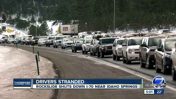 Eastbound I-70 reopens, westbound to reopen by 6 p.m. near Idaho Springs after rockfall mitigation