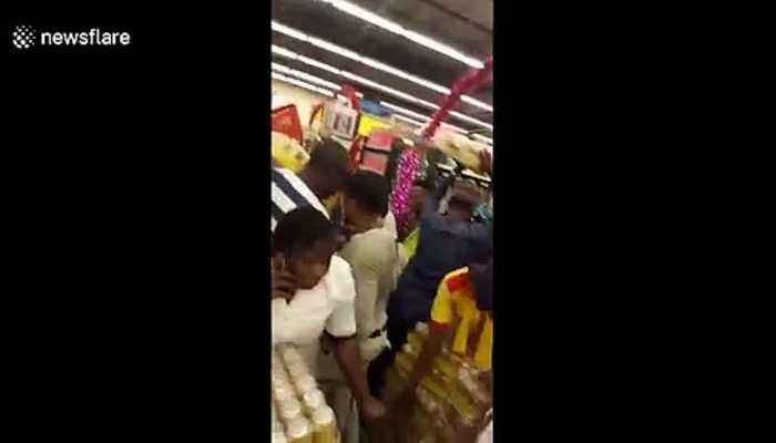 Scrum at Nigerian supermarket for Black Friday deals