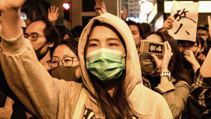 Hong Kong protests: Authorised marches held across city