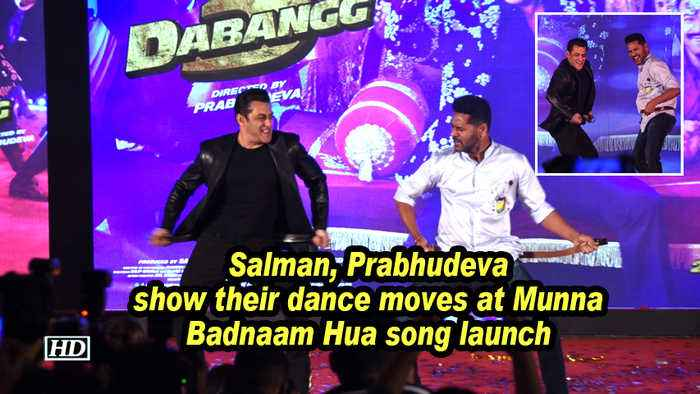 Salman, Prabhudeva show their dance moves at Munna Badnaam Hua song launch