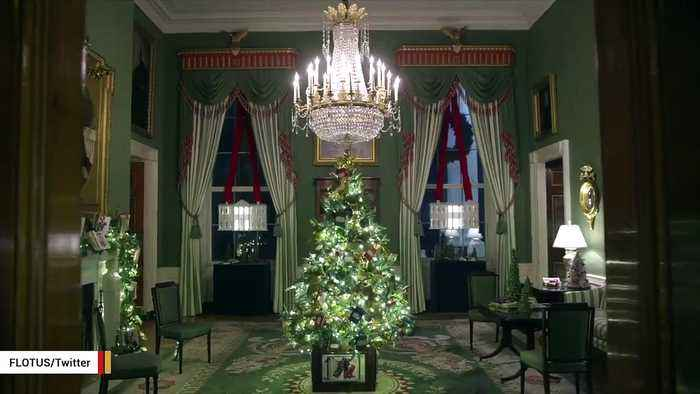 Melania Trump Shares White House Christmas Decorations In Video