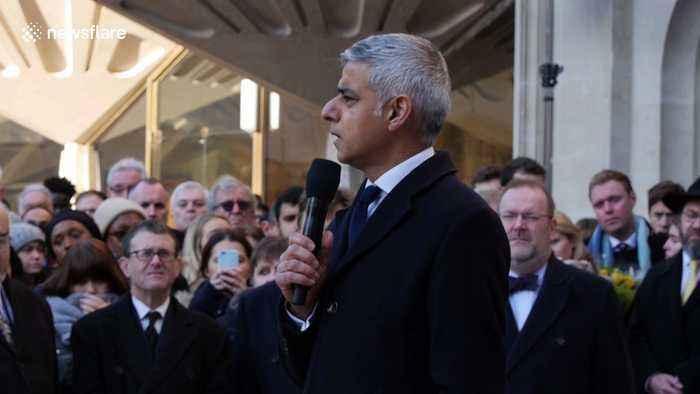 'We take hope from the heroism of ordinary Londoners,' says mayor Sadiq Khan at vigil for London Bridge victims