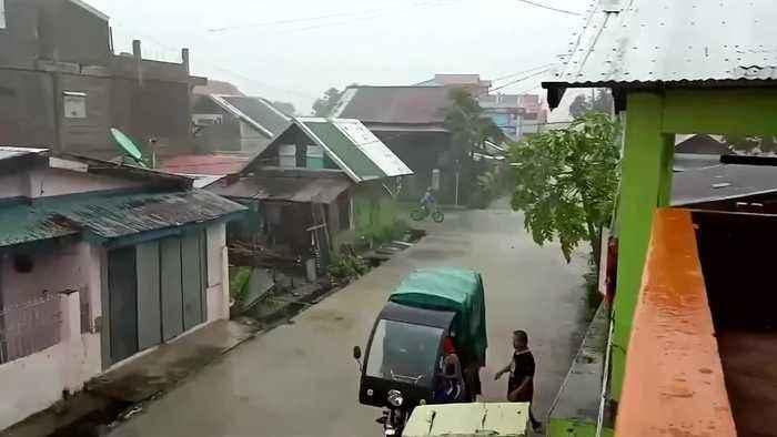 Typhoon Kammuri whips coast of eastern Philippines ahead of landfall