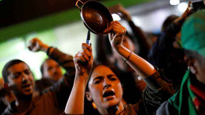 Pots and pans 'cacerolazo' protests echo across Latin America
