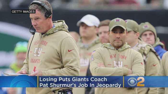Losing Has Giants Coach Pat Shurmur In Jeopardy