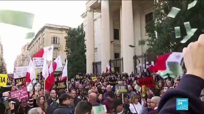 Malta slain journalist: PM defends investigation as protesters keep up pressure