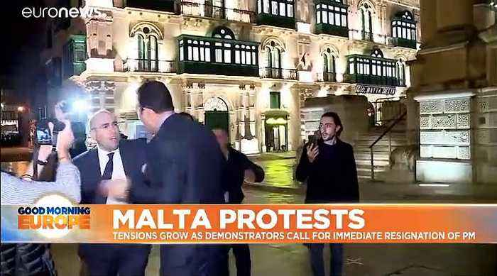 Protesters call for Malta PM Muscat to immediately stand down over journalist murder investigation