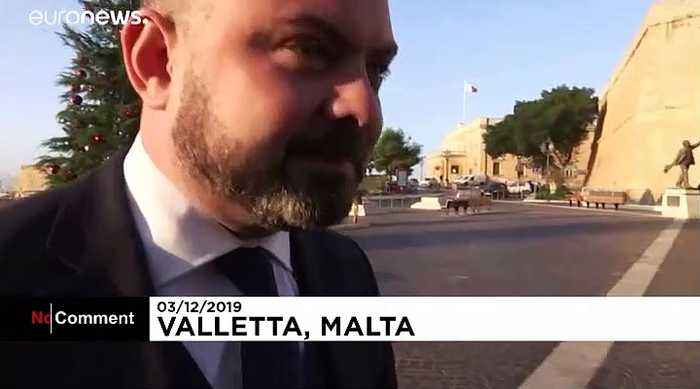 Egg thrown at Maltese Justice Minister Owen Bonnici by angry protesters