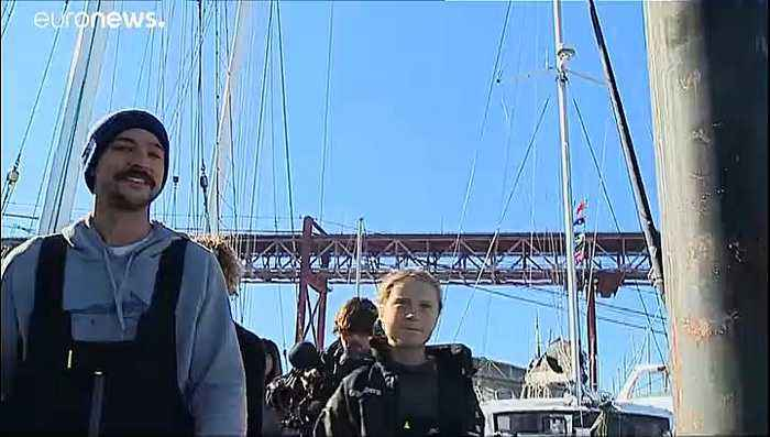 Greta Thunberg heading to COP25 in Madrid after crossing Atlantic on catamaran
