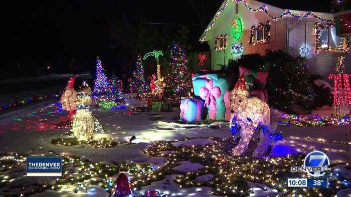 Neighbors come to the rescue after holiday grinches strike popular light display in Arvada
