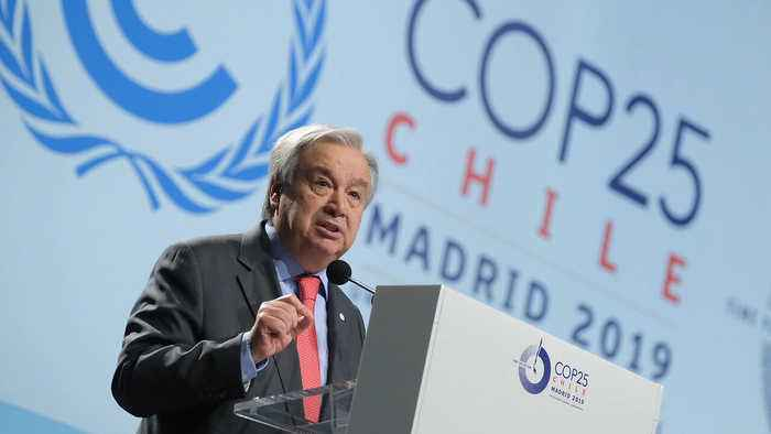 UN Chief warns climate change is at 'point of no return'