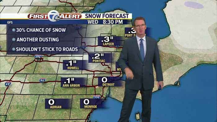 Snow showers possible tomorrow