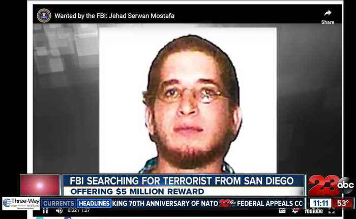 FBI searching for terrorist from San Deigo