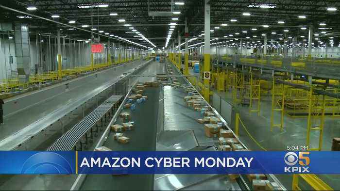 Amazon's Huge, Efficient Tracy Shipment Center Speeds Up Cyber Monday Deliveries