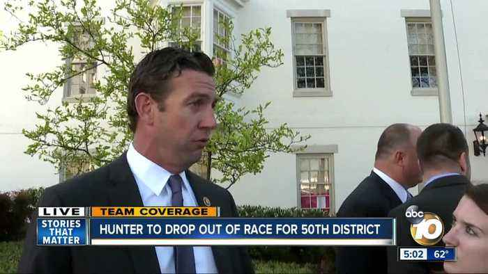 Hunter to drop out of congressional race
