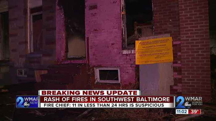 Baltimore City Fire crews are investigating a series of fires in the city's Southwest region.