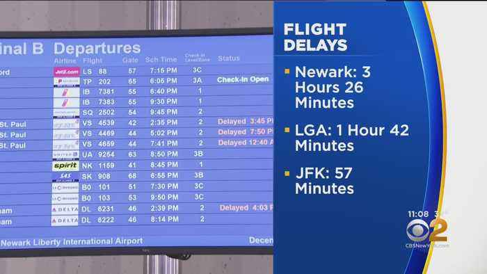 Flight Delays Stretch Into Monday Night After Snow Storm