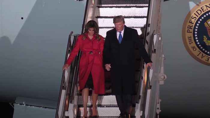 Trump arrives in UK for NATO summit